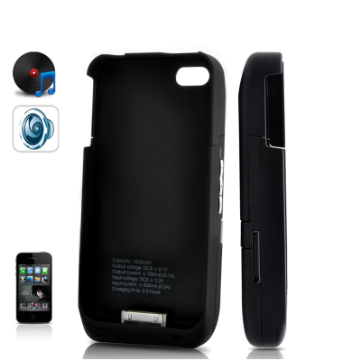 iPhone 4S 1500mAH Battery & 10W Speaker Case