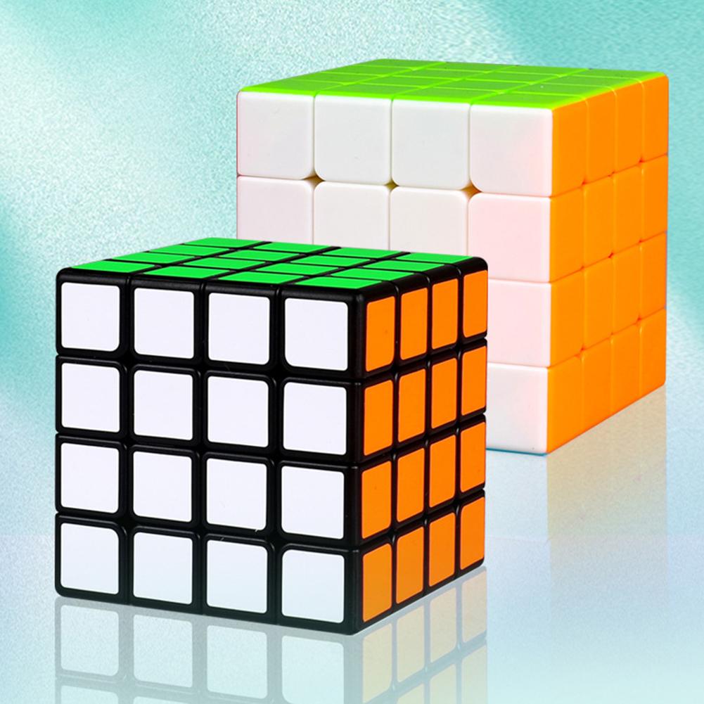 Magic cube QiYi Qiyuan S 4x4 Stickerless Bright Magic Cube MoFangGe MFG Qiyuan S Color 4X4X4 Speed Cube black