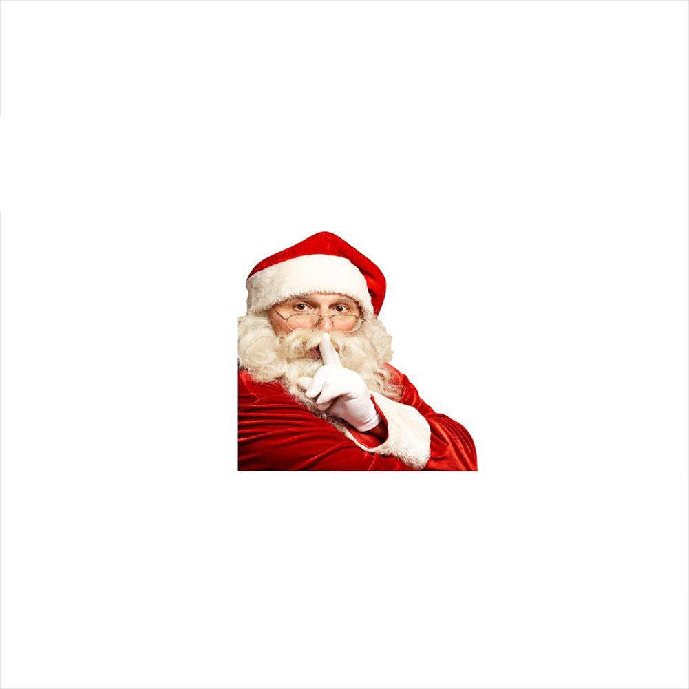 Santa Car Decal Automobile Sticker for Home Cars Decor Gift left