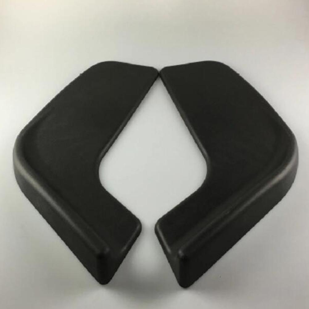 2 PCS Universal Car Front Bumper Lip Spoiler Wing Body Spolitter Protector black