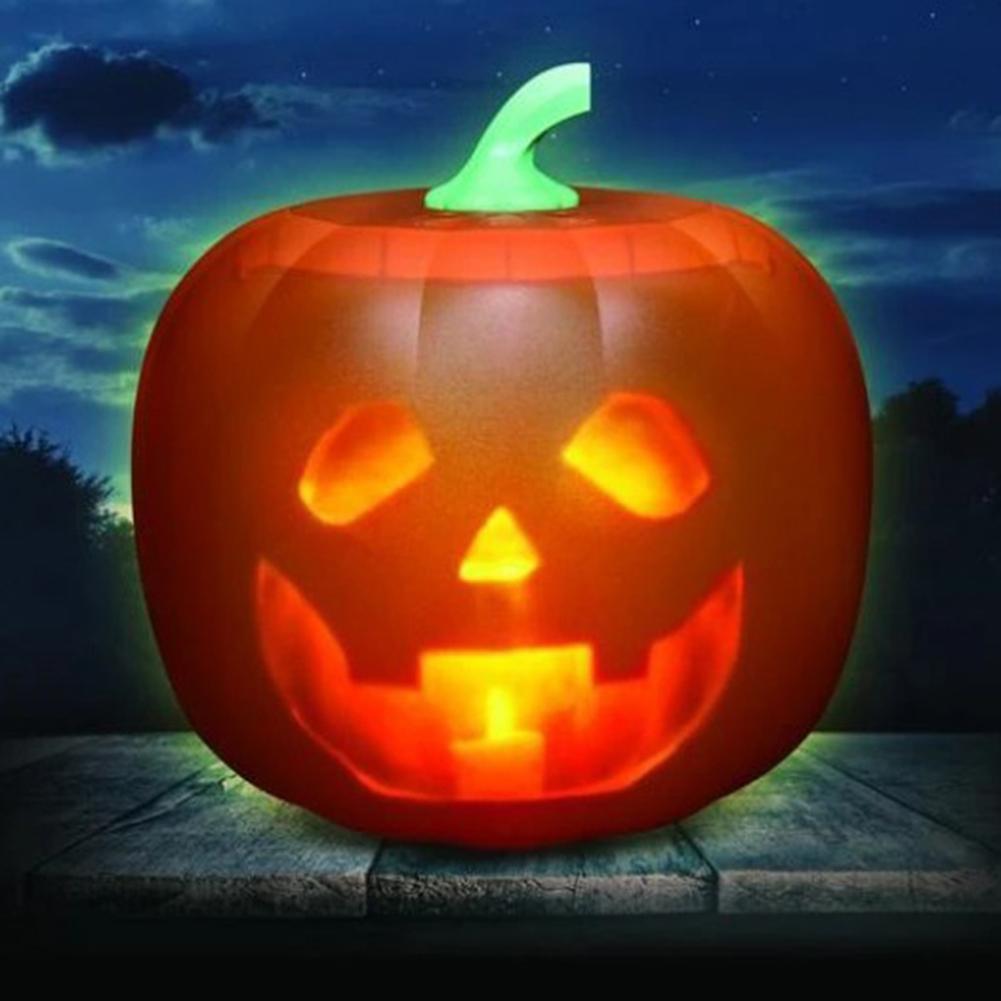 Halloween Pumpkin Projection Lamp Talking Animated Pumpkin Light Party Decoration   British plug