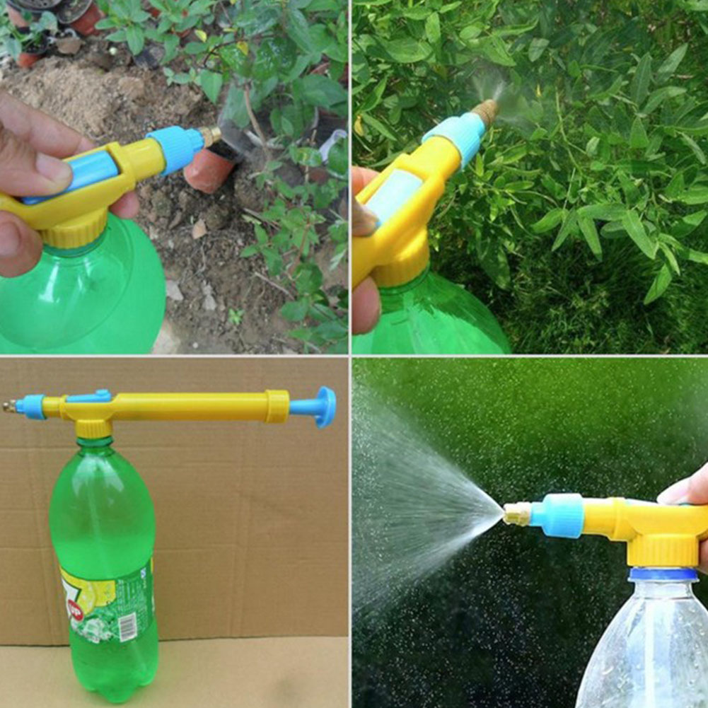 Household Manual Push/Pull Pressure Sprayer Atomizer Spray Nozzle for Bottle Disinfecting Watering yellow