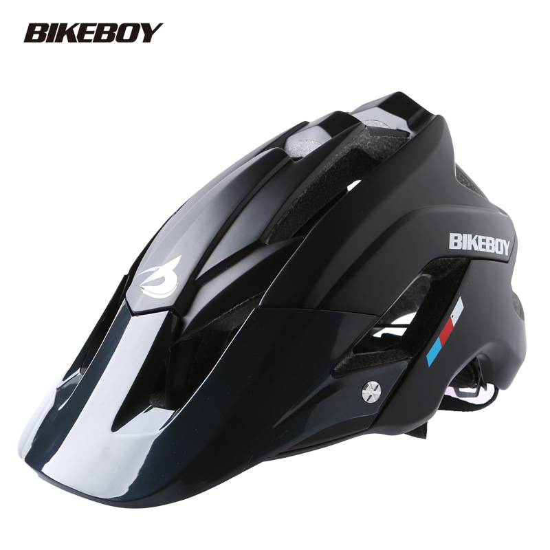 Bikeboy Bicycle Mountain Bike Helmet Riding Integrally Molded Bicycle Highway Men And Women Safe Accessories Equipment black_Free size