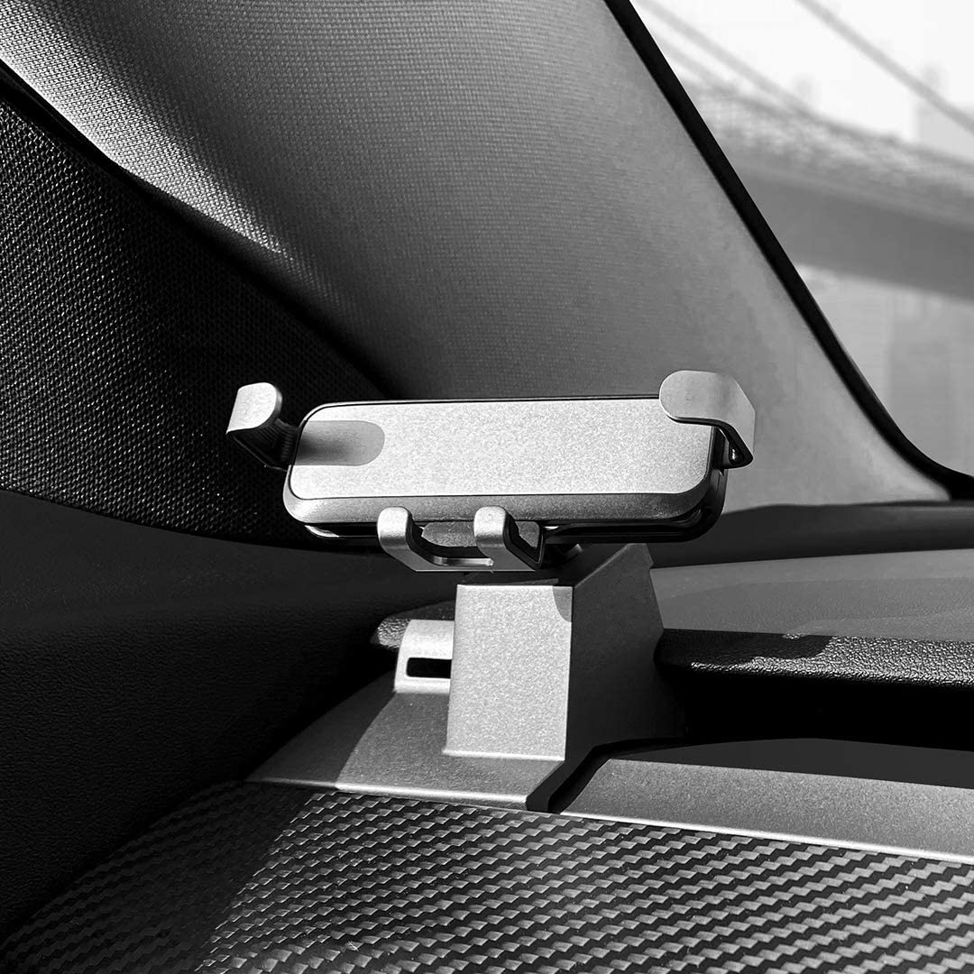 Gravity Phone Mount Bracket For Model3 Modely Mobile Phone Holder Car Inner Modified Accessories Silver