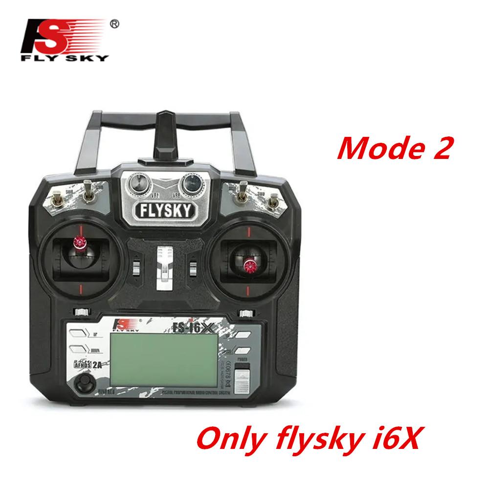 FLYSKY FS-i6X FS i6X 2.4GHz 10CH AFHDS 2A RC Transmitter X6B iA6B A8S iA10B iA6 Fli14+ Receiver for RC FPV Racing Drone Left hand single control
