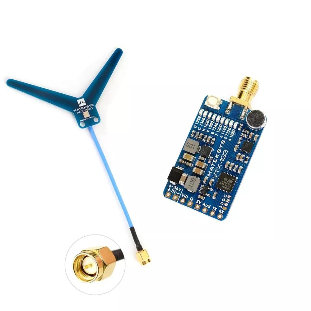 Matek System Mateksys VRX-1G3-V2 / VTX-1G3 1.3GHz FPV Video 2CH 9CH Transmitter 9CH Wid Band Receiver RC Drone Long Range Goggle VTX-1G3-9