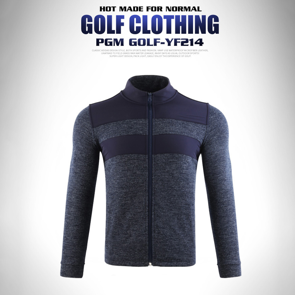 Golf Clothes Autumn Winter Long Sleeve Jacket Warm Knitted Clothes Yf214 navy_M