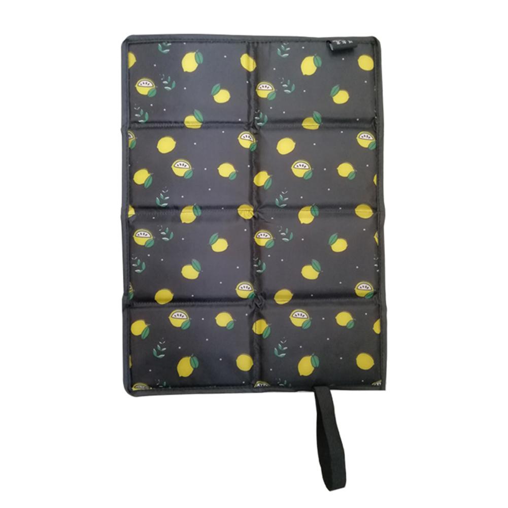 Folder  Mat For Outdoor Camping Portable Picnic Mat Beach Pad Moisture-proof Waterproof Cushion  Lemon
