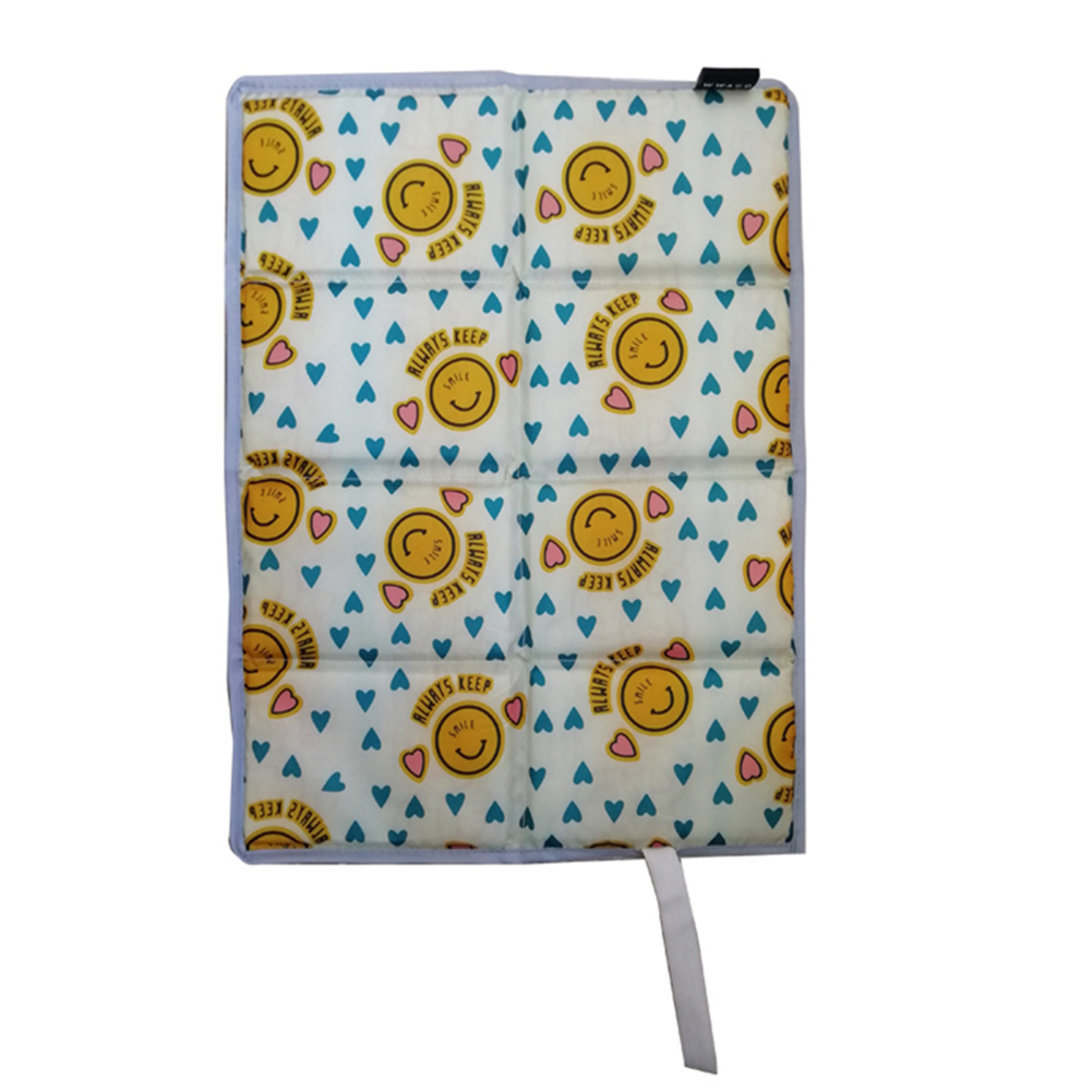 Folder  Mat For Outdoor Camping Portable Picnic Mat Beach Pad Moisture-proof Waterproof Cushion Smile