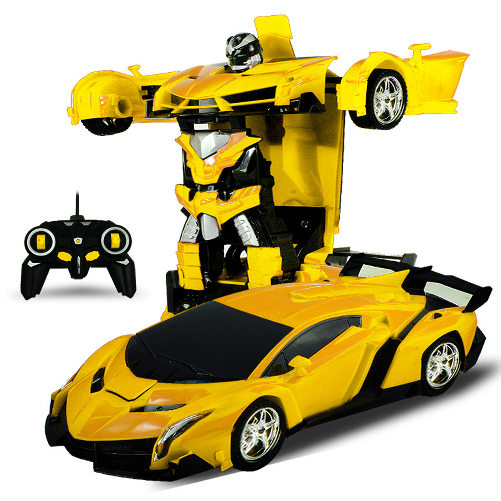 One-key Deformation Robot Toy Transformation Electric Car Model with Remote Controller