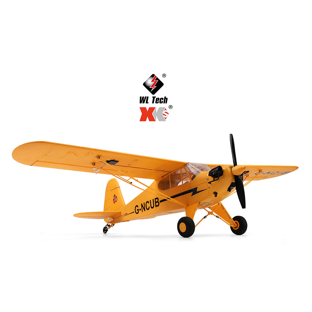 RC Plane XK A160 3D/6G 7.4v High-performance 1406 Brushless Motor Airplane yellow