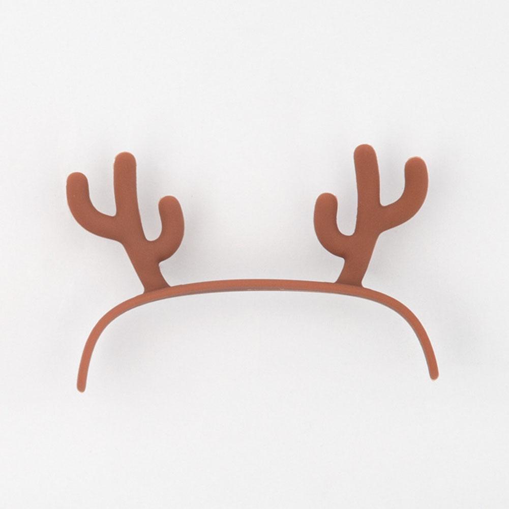 Multifunction Cute Cartoon Alarm Clock Temperature Display USB Night Light deer headwear (accessories)