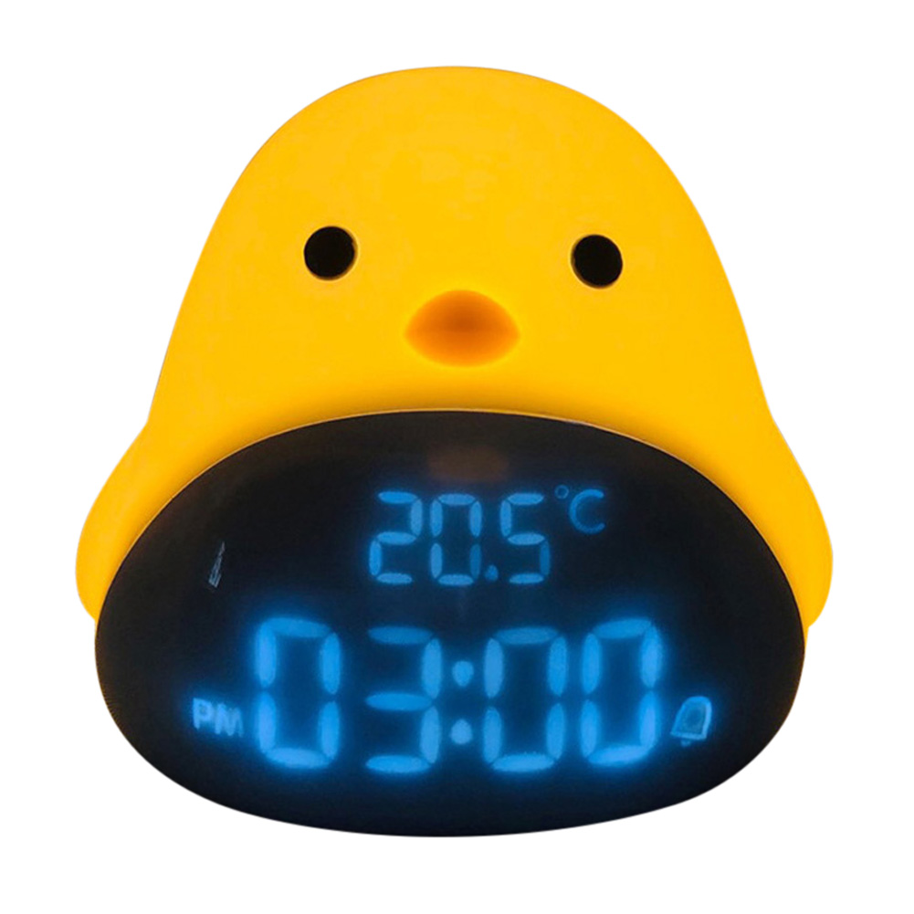Mute Alarm Clock Multifunctional Electronic Snooze Alarm Night Light for Students Bedside Huang Guang_128 * 135 * 108mm