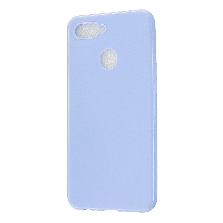 For OPPO A7/F9/F9 Pro Cellphone Cover Non-Slip Ultra Thin Silm Fit Easy Install Soft TPU Smartphone Shell Taro purple