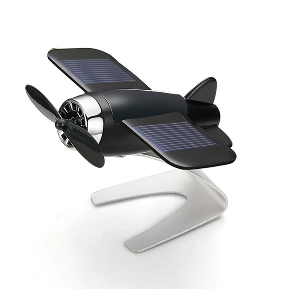 Solar Energy Aromatherapy Aircraft Car Console Interior Decoration Orange incense  black
