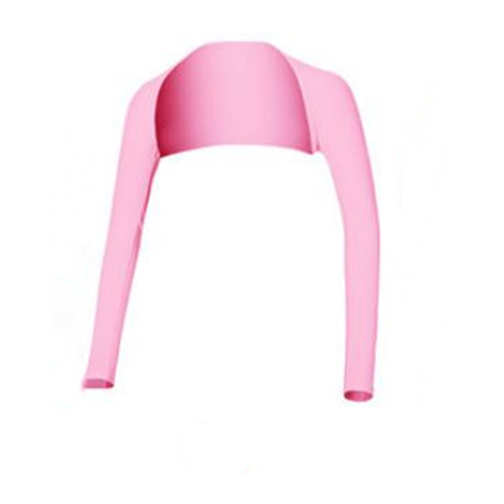 Women Outdoor Summer Ice Silk Sunscreen Shawl for Riding Driving Golf Arm Sleeve Cover Pink_XL