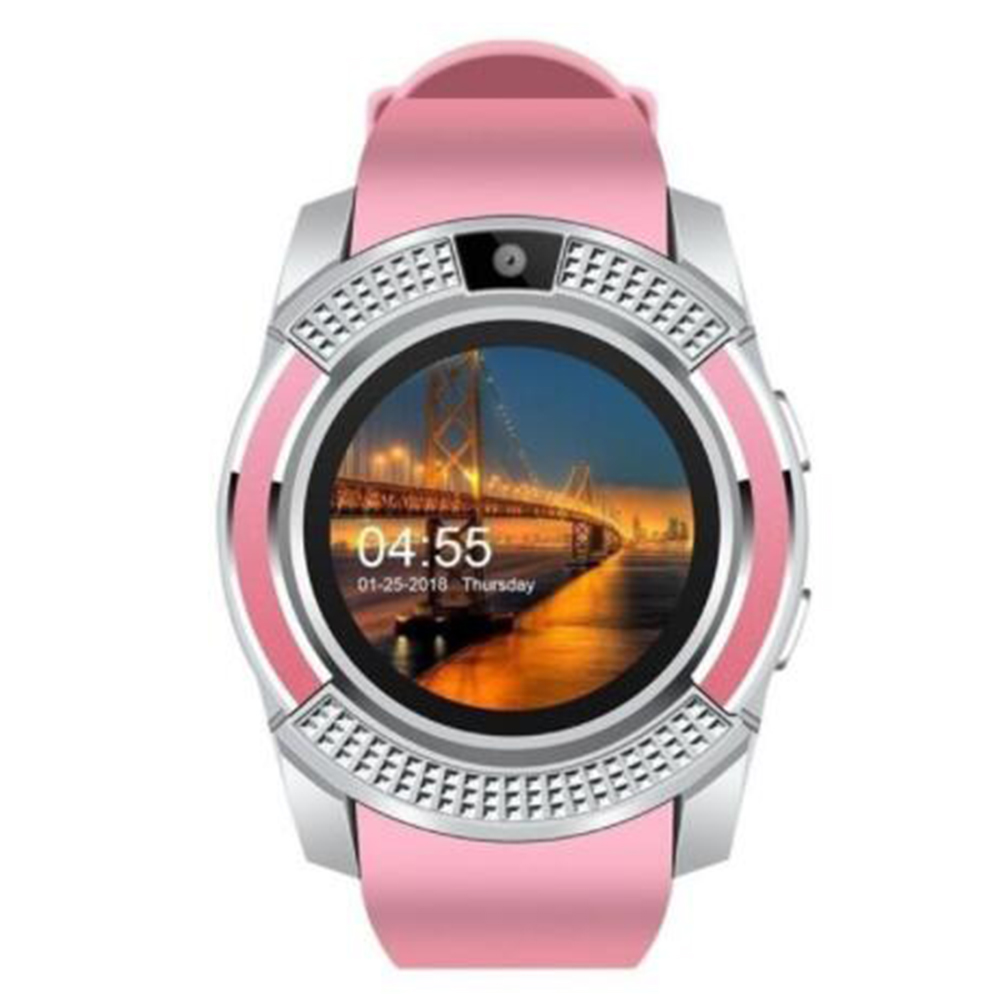 Y1 Bluetooth Smart Watch With Touch Screen Camera / SIM Card Slot Waterproof Smart Watch Pink