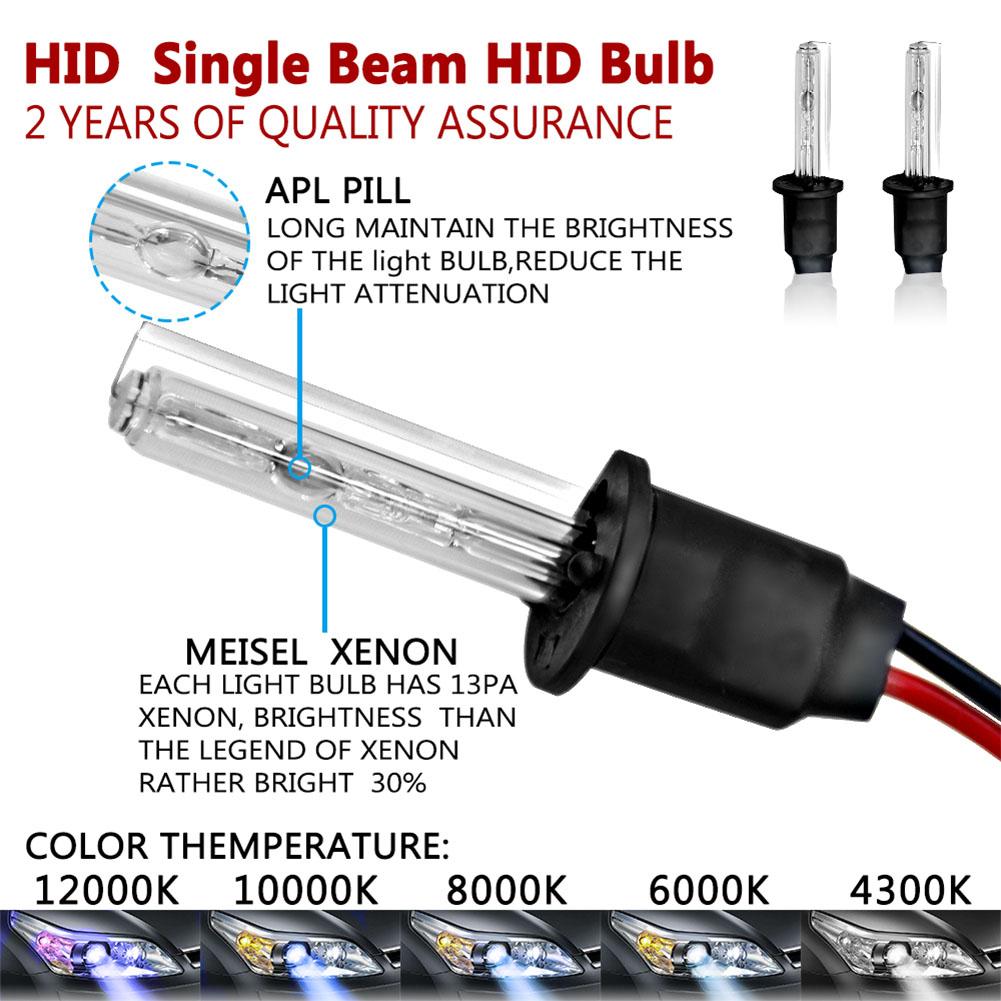 12V 55W HID Xenon Replacement Headlights Set 4300K/5000K/6000K/8000K 10000K/12000K Daylight