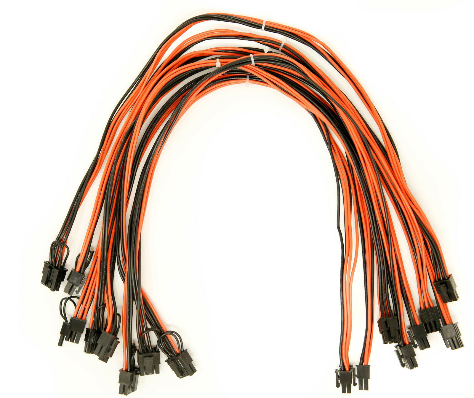 8Pcs/Set 8pin Cable 60 Cm 6 Pin To 6+2 Pin Male To Male Pci Cables as shown