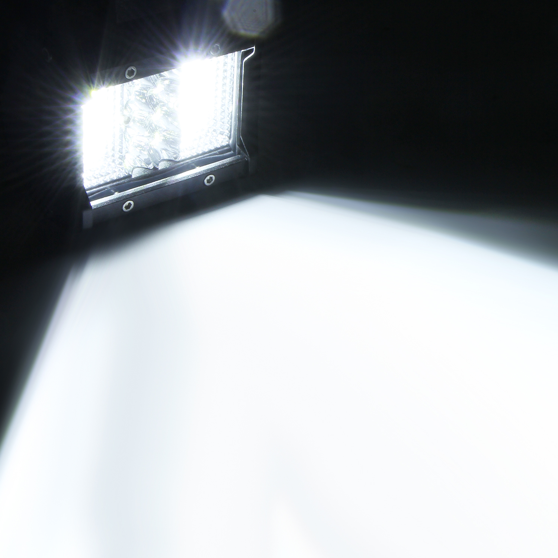 LED Work Light 4Inch Four Row Lights 108W Bar Driving Boat Led Off Road Trucks White light