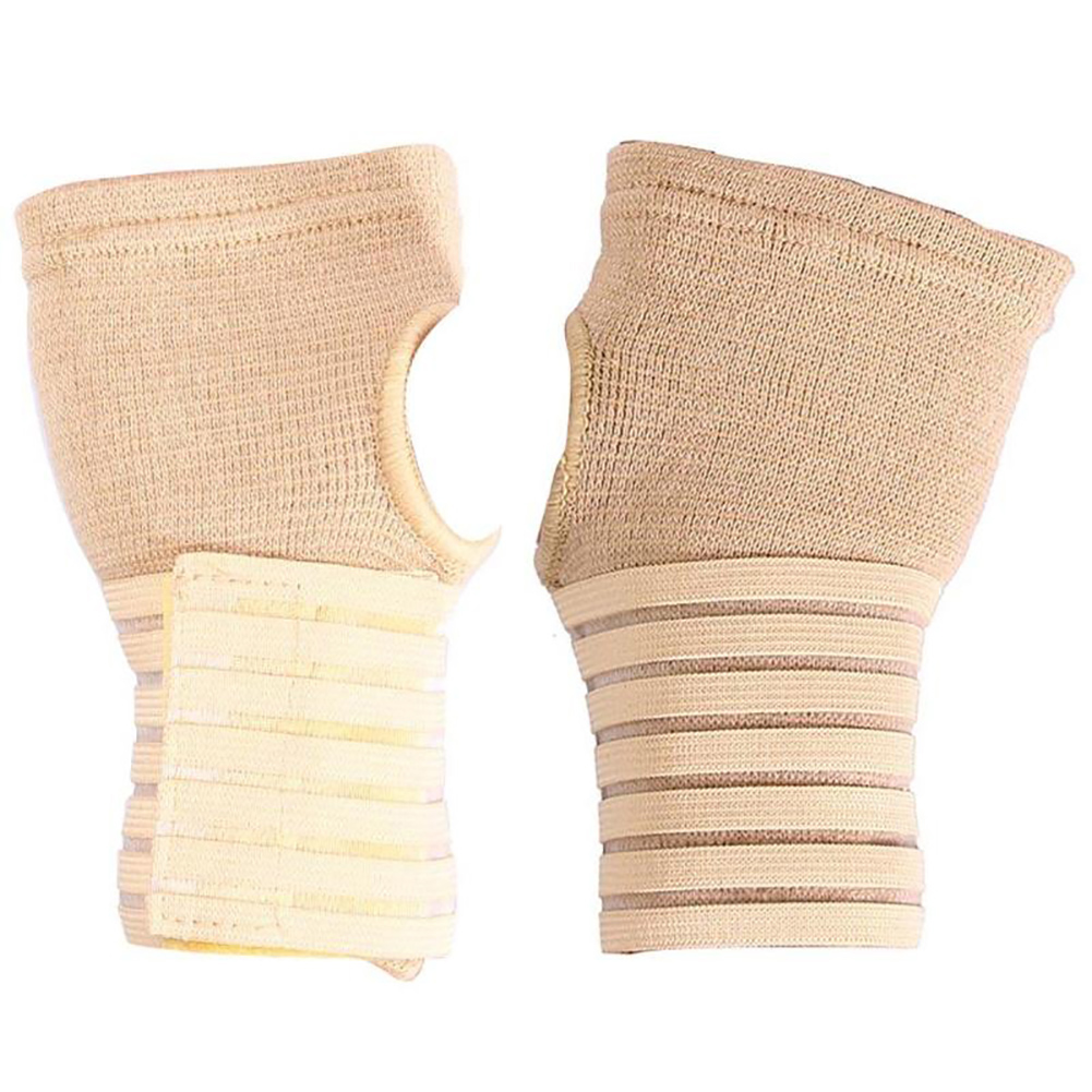 Wrist Support Glove Strap Adjustable Protective Pain Relief Hand Support Pressurized Wrap Sports Warm Glove Elastic Cycling Wrist Bandage A pair
