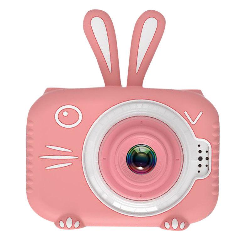 Hd Cartoon Rabbit Children Camera Digital Photo Childlike Mini Camera Pink single camera