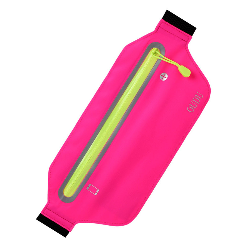 Unisex Running Sports Cell Phone Pocket Multifunction Waterproof Waistbag Lightweight Bag Pink_6.5 inch