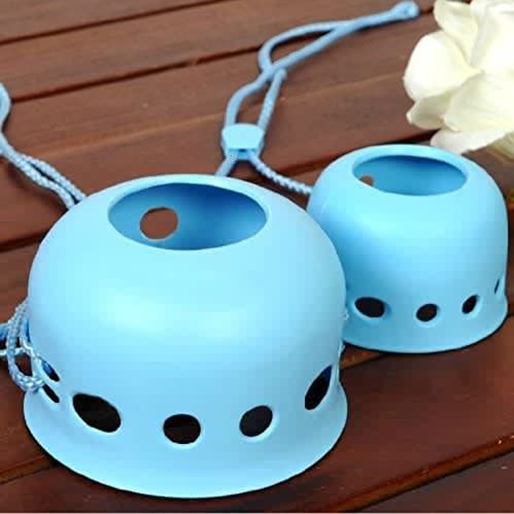 Round Cute Dog Mouth Cover Adjustable Anti-Biting Barking Muzzles for Flat Mouth Puppy Kitten blue_L