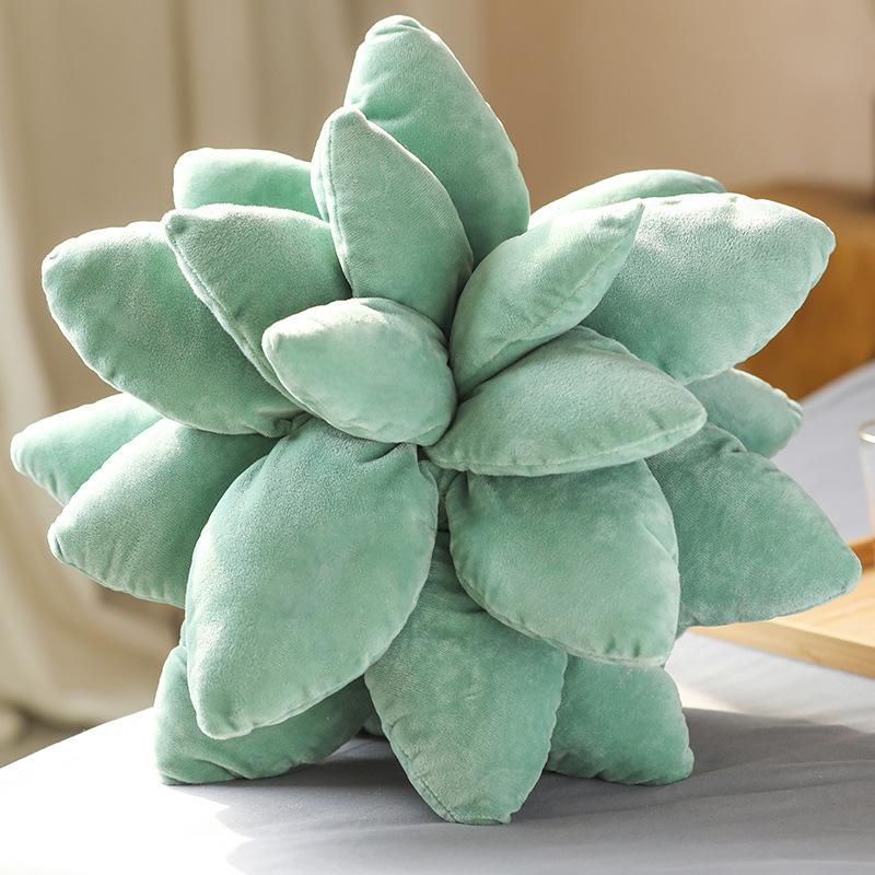 PP Cotton Artificial Plant Succulent  Pillow Household Decorative Ornaments Dark green and Succulent