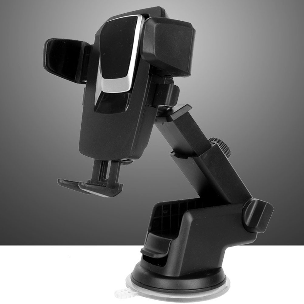 Car Mobile  Phone  Holder Air Outlet Universal Mobile Phone Navigation Bracket Suction Cup Type Holder Silver