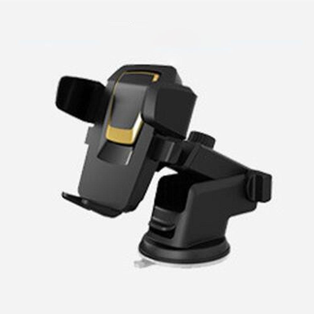Car Mobile  Phone  Holder Air Outlet Universal Mobile Phone Navigation Bracket Suction Cup Type Holder Golden