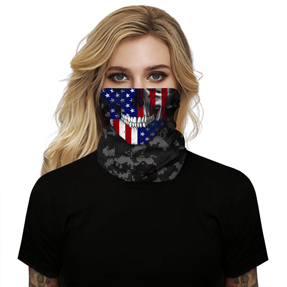 Breathable Mask 3D Flag Digital Printing Outdoor Insect Proof Scarf for Carnival Riding BXHA059_One size