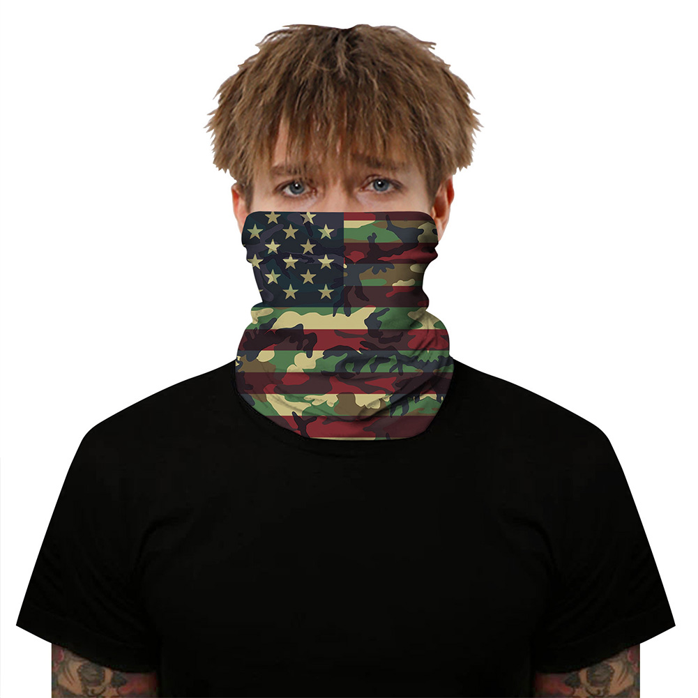 Breathable Mask 3D Flag Digital Printing Outdoor Insect Proof Scarf for Carnival Riding BXHA058_One size