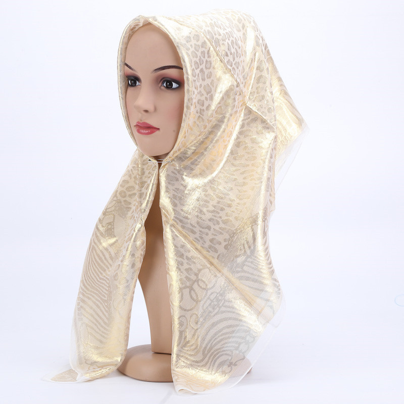 Women Muslim Silk Hijab Scarf Long Head Scarf Female Hijab Shawl Pashmina Scarf Sjaal  white_85*85cm