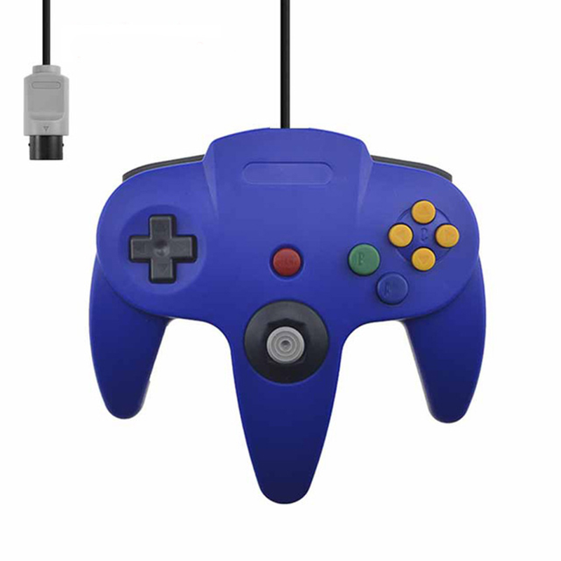 Wired Controller for N64 Classic Gamepad Joypad Blue
