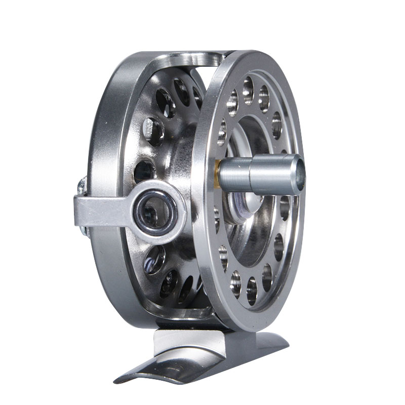 All Metal Fishing Reel Right Hand Rocker With Brake 60M Line Capacity