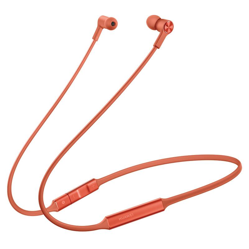 Original HUAWEI FreeLace Sport Earphone Bluetooth wireless Headset Memory Cable Metal Cavity Liquid Silicon Orange_Bluetooth 5.0