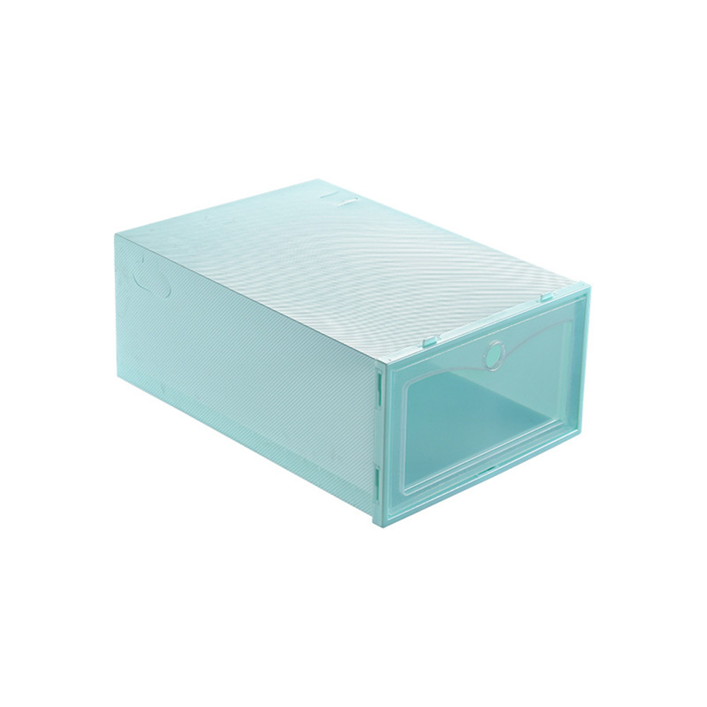 3Pcs Thicken Transparent Dustproof Moistureproof Storage Box for Women Men Shoes green_31*21.5*12.5cm