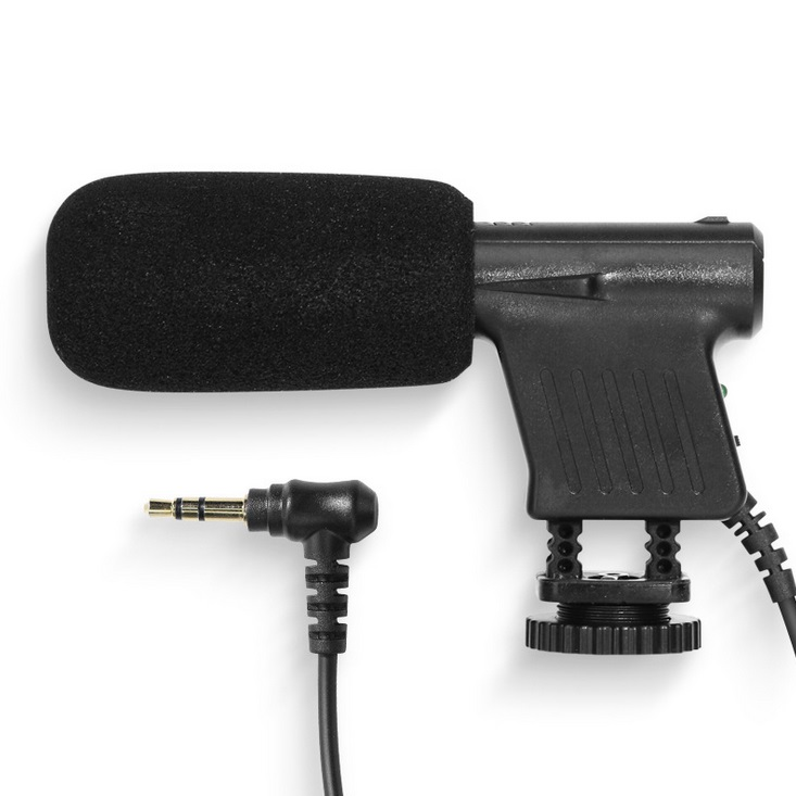 Video Recording Microphone 3.5mm Plug Studio Microphone For Camera Computer For Camera black