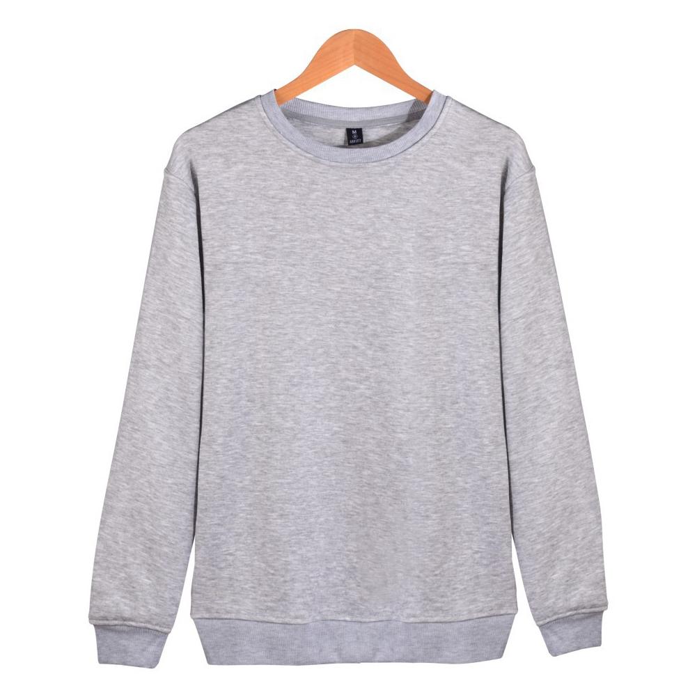 Men Solid Color Round Neck Long Sleeve Sweater Winter Warm Coat Tops gray_XXXXL