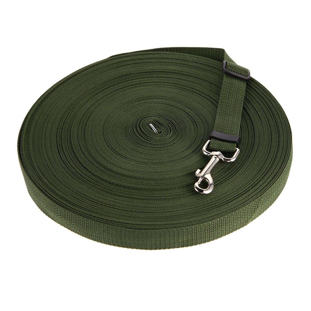 Adjustable Pet Training Leash for Outdoor Cat Dog Walking Control ArmyGreen_20m