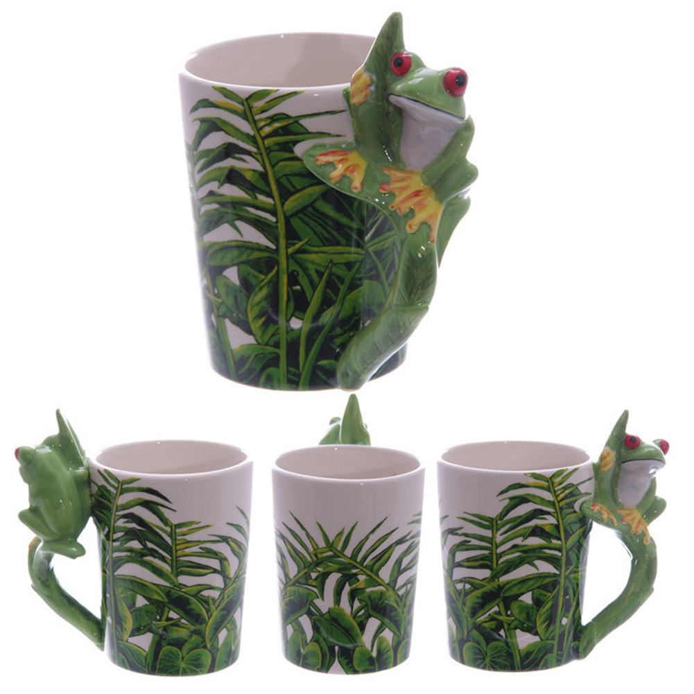 Cute 3D Animal Handle Ceramic Mug with Large Capacity for Milk Tea Coffee Cup
