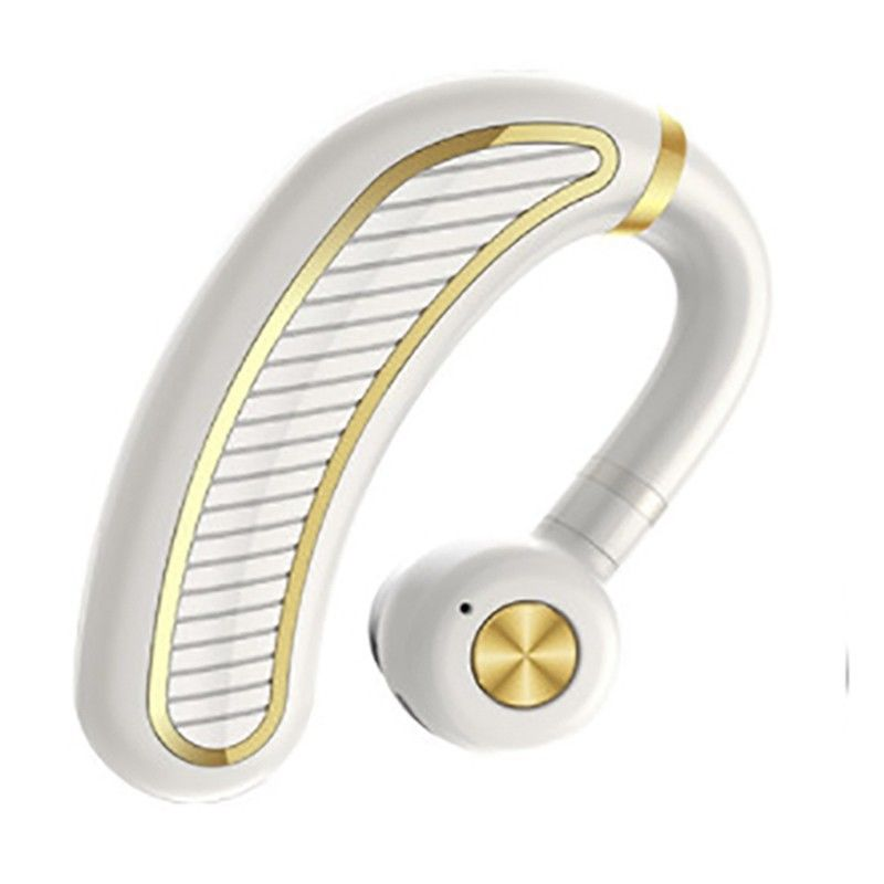 Wireless Bluetooth Headset Sports Earphone for iPhone Samsung White gold