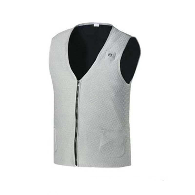 Electric Heating Vest Or Mobile Power Self-heating Clothes Waist  Protection Vest For Men Women Gray_m