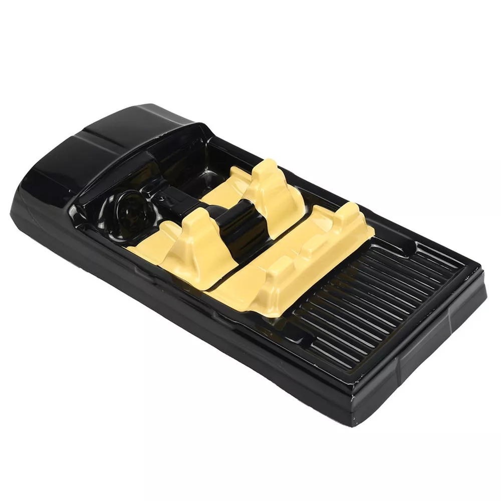 RC Car Shell Interior Decoration 38.5*18.5*3.5cm For 1/10 Axial SCX10 II 90046 90047 Cherokee black
