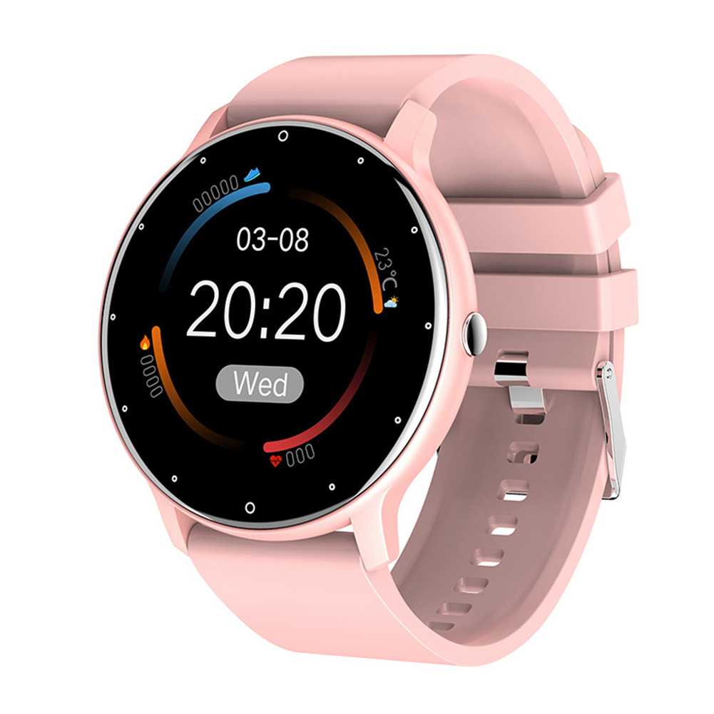 ZL02 Color Screen Smart Bracelet Heart Rate Health Monitoring Bluetooth Sports Watch Pink