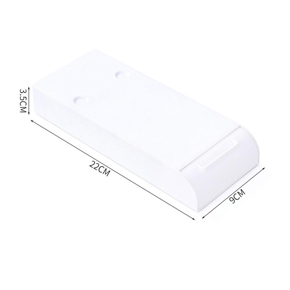 Hidden Table Storage Box Under Paste Desk Organizer Desk Drawer Divider white