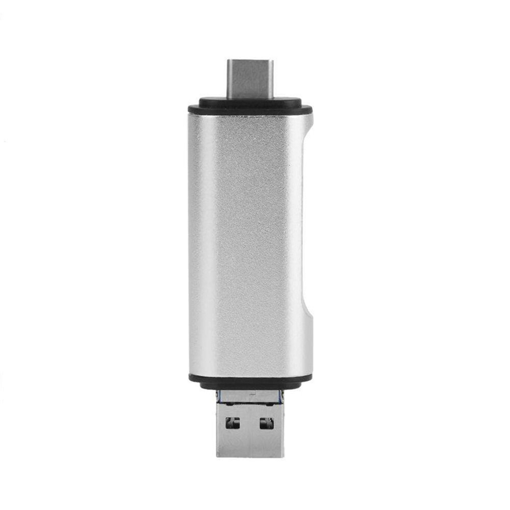 5-in-1 Type C OTG Card Reader With USB Female Interface for PC USB 3.0 Read TF Memory Card Reader Silver