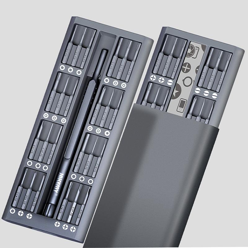 JAKEMY JM-8169 49 in 1 Mini Screwdriver Set Disassembling Tools(Gray) JM-8169