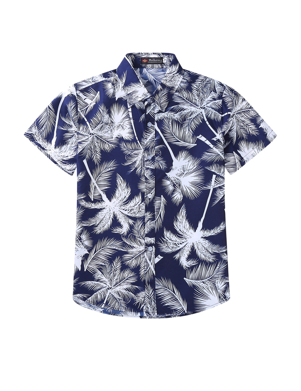 Summer Casual All-match Cool Printing Short Sleeve Shirt for Women Men Couples 17#_L